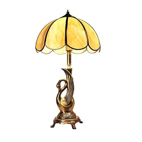 Lampara De Mesa Lámpara De Noche Luz De Lectura Lámpara Europea De Sobremesa De Cobre Lámpara De Cabecera Del Dormitorio Estudio De Sala De Estar De Lujo Lámpara De Mesa Retro Americana Interruptor De Atenuación