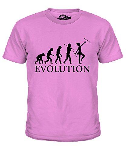Candymix Baton Twirling Evolution des Menschen Unisex Jungen Mädchen T Shirt, Größe 12 Jahre, Farbe ()