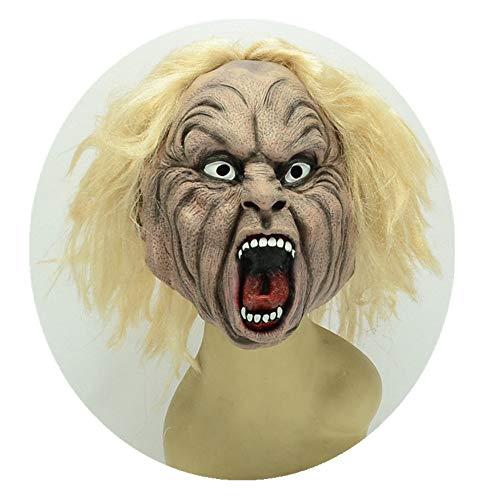WHLMJ Latex Maske Halloween Make-Up Nachtgeschäft Zubehör Perücke Ängste Maske