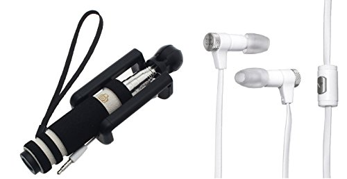 FELLKON Mobile Phone Selfie Stick And Earphone Combo Compatibla With Samsung Primo S5610  available at amazon for Rs.399