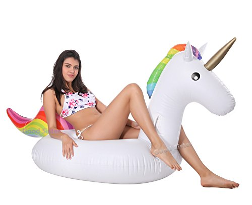 Einhorn Luftmatratze, Aufblasbare Einhorn, Können am Strand Spielen, Geeignet für Familie Pool mit Ihrer Familie Können Ihren Erholsamen Urlaub Genießen 01