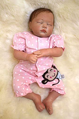 ZIYIUI Reborn Babypuppe Neugeborenen Weichem Silikon Vinyl Realistische Puppe Real Touch Handgemachte Schlafende Mädchen Spielzeug Zwillinge Puppen Weihnachten Geburtstagsgeschenke
