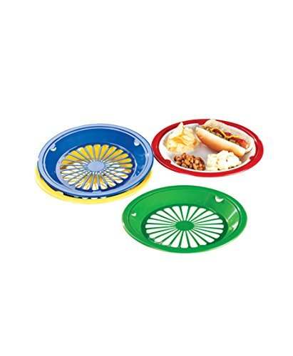 Miles Kimball Plastic Paper Plate Holders - Set Of 8 Assorted Colors by Miles Kimball