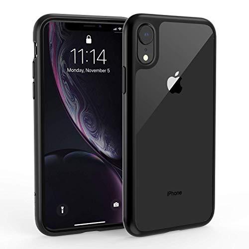 Syncwire Silikon Hülle kompatibel mit iPhone XR, UltraRock Schutzhülle mit fortschrittlichen Fall- Schutz und Luftkissen Safeguard Technologie Handyhülle für iPhone XR, Schwarzer Rand Silikon Iphone-fall