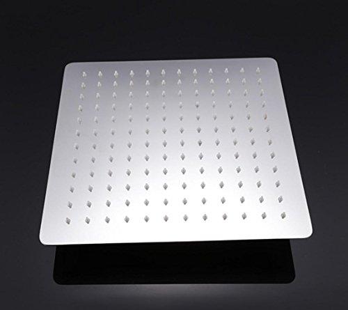 """Preisvergleich Produktbild BLYC- 12 """"quadratischen Edelstahl extra-dünnen Regenfall Duschkopf Multi-Funktions-Regen-Dusche, Chrom"""