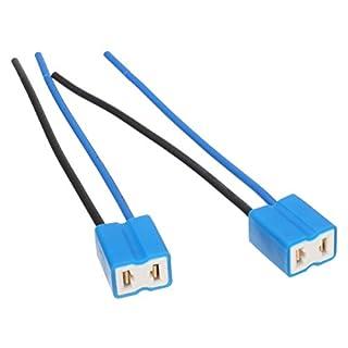 ChaRLes 10pcs H7 Van SMD LED Bulb Head Light Wire Ceramic Connector Steckdose Holder