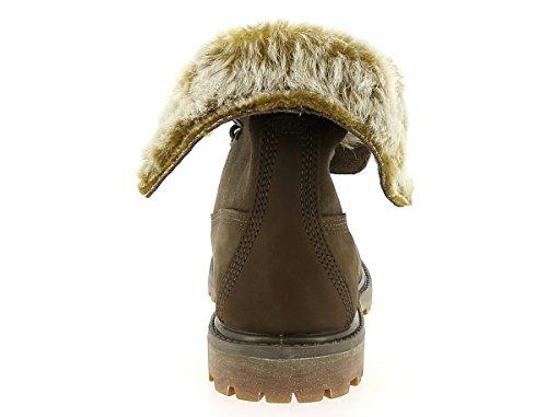 "Damen Stiefel ""Authentics Faux Fur Fold Down"" Braun"