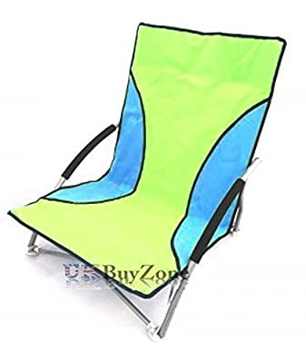 Unibos Portable Camping Chair with Adjustable Height Folding Fishing Low Chair Green from Unibos