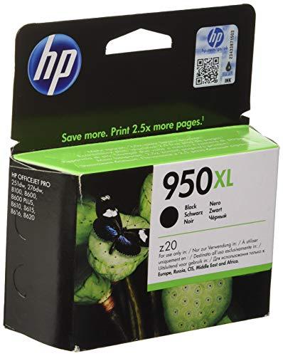 HP 950XL - Cartucho de tinta Original HP 950 XL de álta capacidad Negro para HP OfficeJet Pro 251dw, 276dw, 8100, 8600