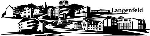 Wandtattoo Skyline Langenfeld XXL Text Stadt Wand Aufkleber Wandsticker Wandaufkleber Deko sticker Wohnzimmer Autoaufkleber 1M187, Skyline Größe:Länge 250cm