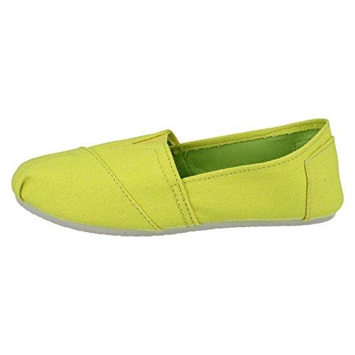 Spot On , Ballerines pour femme - Yellow Fluorescent