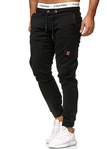 OneRedox Herren Chino Pants | Jeans | Skinny Fit | Modell 3301 Schwarz 28