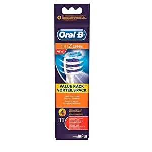 Oral-B TriZone Electric Toothbrush Replacement Heads Powered by Braun - Pack of 4