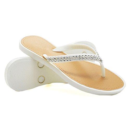 London Footwear - Retro aperto donna White