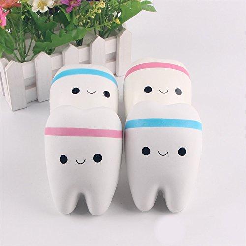 ähne lächeln Langsam steigend Plüschtier Anhänger mit Kugelkette Finger Spielzeug für Erwachsene und Kinder - Random Color ()