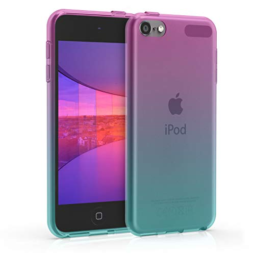 kwmobile Apple iPod Touch 6G / 7G (6. & 7.Generation) Hülle - Handyhülle für Apple iPod Touch 6G / 7G (6. & 7.Generation) - Handy Case in Pink Blau Transparent