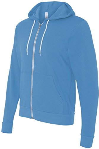 Bella+Canvas: Unisex Poly-Cotton Full Zip Hoodie 3739 Neon Blue