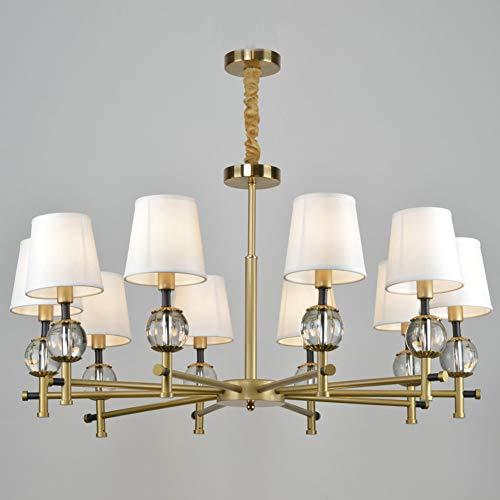 FEE-ZC Nordic Kreative Led Pendelleuchten Moderne Wohnzimmer Schlafzimmer HäNgelampe Milch Weiß Tuch Lampenschirm Pendelleuchte, WeißEs Licht -