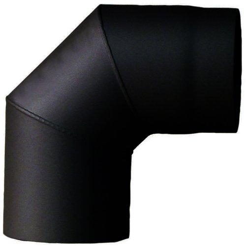 MCT FERRO1454130 Tuyau de poêle coude ø 130 mm 90° Noir