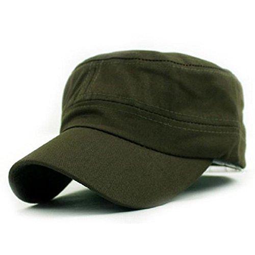 Cappello,WINWINTOM Classic Plain Esercito Vintage Militare Cadet Cotton Cap Style (Army Green)