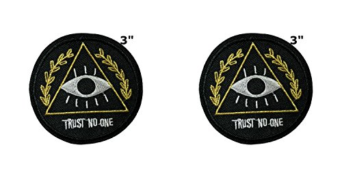 Anwendung X-Files NASA Space Programm Classic Trust No One Cosplay Badge gesticktes Eisen oder aufgesetzte Aufnäher Patch 2er Pack Geschenk-Set