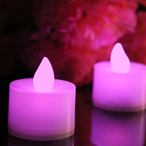 12 Lumini LED Rosa - Candele Romantiche da Tavolo, Tealights a Batteria per Camera, Decorazioni, Matrimonio di PK Green