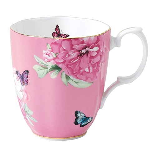 Royal Albert - Miranda Kerr - Becher, Kaffeetasse, Teetasse 'Friendship' - feinstes Porzellan - Pink - 400 ml Royal Doulton Fine China Mug