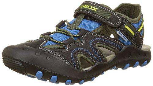 Geox jr kyle a, sandali a punta chiusa bambino, nero (black/sky), 30 eu