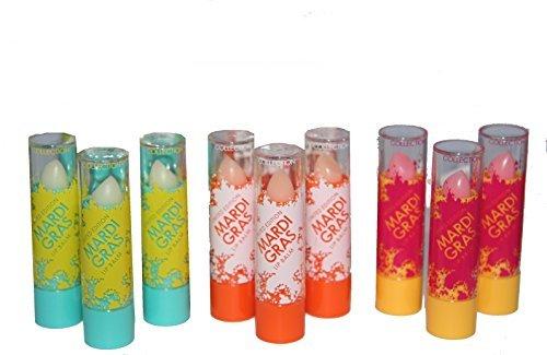 24 x Collection 2000 Mardi Gras Baume Pour Les Lèvres 3 teintes Gros Lot De Travail