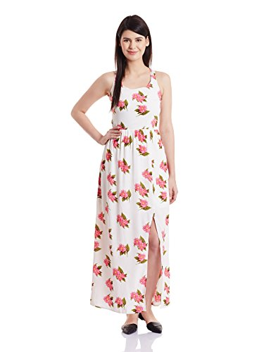 Harpa Women's A-Line Dress (GR2280_Cream_large)  available at amazon for Rs.540
