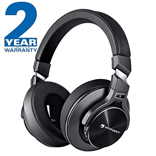 Cuffie Over Ear Bluetooth Noise Cancelling - Headphones Bluetooth con Audio Stereo HiFi, Microfono Incorporato, Supporto per Chiamate in Vivavoce e Modalit¨¤ Cablata per Telefoni, PC, TV