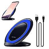 HKFV Schnellladung Qi Wireless Ladestation Dock für Samsung Galaxy S8 / S8 Plus Samsung Galaxy S8 / Galaxy S8 Plus schnelles kabelloses Ladegerät (Blau)