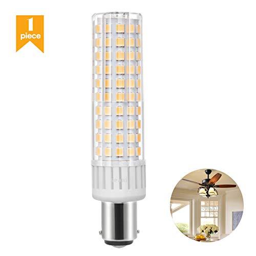 B15D LED-Glühlampe B15D Doppelbajonettsockel 8.5W Birne 90-265V 100W Äquivalent Nicht-Dimmbare Warm Weiß 3000K Nähmaschinenlampe (1er Pack) - 12v 100w Ersatzlampe