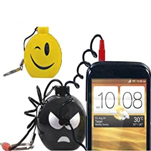 lautsprecher smiley f r handy tablet notebook smartphone. Black Bedroom Furniture Sets. Home Design Ideas