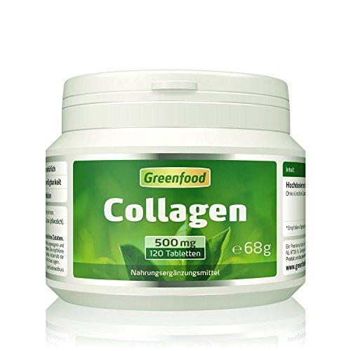 Collagen, 500 mg, hochdosiert, 120 Tabletten – reduziert die Faltenbildung, erhöht den Feuchtigkeitsgehalt der Haut. OHNE künstliche Zusätze, ohne Gentechnik. (Kollagen-tabletten Für Haut)
