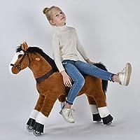"""UFREE Horse, Action Pony, Ride on Toy, Medium Moving Rocking Horse, Giddyup, Go Go, Pony 36"""" Unique Gift for Age 4-9 Years"""