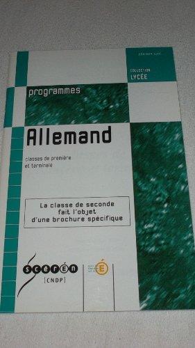 Allemand : Classes de première et terminale (Collection Lycée)
