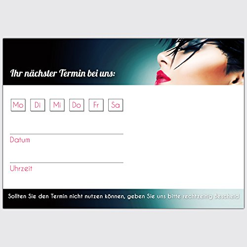 """Terminkarten """"Friseur - Rabenschwarz"""", Format: DIN A7 quer, 250 Stück"""