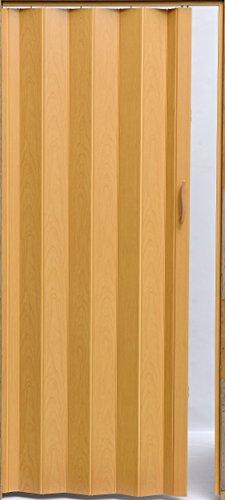 Falttür Schiebetür Tür Kunststofftür buche farben Höhe 203 cm Einbaubreite bis 82 cm Doppelwandprofil Neu