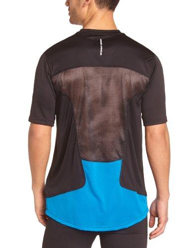 Under Armour–Maglietta da uomo HG Flyweight Run Short Sleeved nero/blu