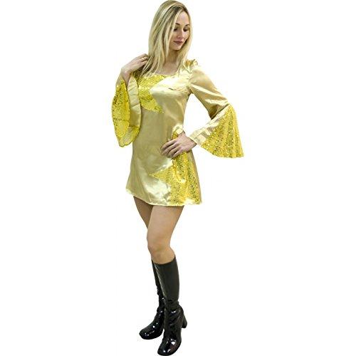 Aptafêtes cu095443/42–44–Costume per Donna da Discoteca Dance Oro Taglia 42/44