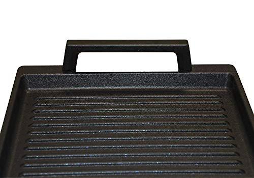 41e%2BV%2Bw%2BE2L - Eurolux Aluminium-Guss Grillplatte für INDUKTION (mit Seitengriffe) 41 x 24 x 2,5 cm in Premium Qualität (A Ware, Neueste Serie) 1 Monat Geldzurückgarantie! - Made in Germany - PFOA-Free