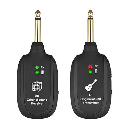 TOOGOO Ricevitore del trasmettitore del sistema wireless per chitarra UHF ricaricabile