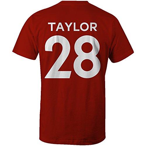 Stuart Taylor 28 Club Player Style Kids T-Shirt Red/White