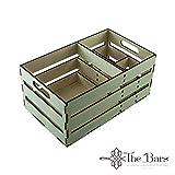 The bars Porta tovaglioli/cannucce da banco Cassetta della Frutta in Legno (Shipping Box)