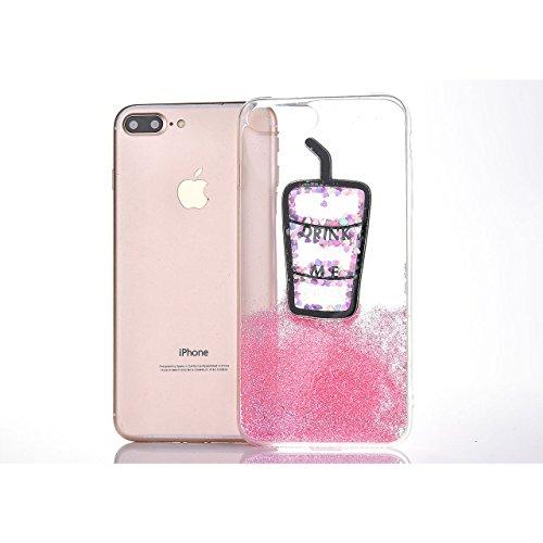 Coque iPhone 8 Plus iPhone 7 Plus,Sunroyal [Liquid Crystal] Ultra Mince Premium TPU silicone Case [Crystal Clear] Transparente / Bumper-Style / Anti-choc / Adherence exacte / Sans Encombrement Flexibl Motif 01