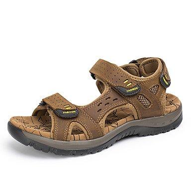E Us8 Verão Genuíno De Slip Casual Eu40 Cn41 on De Gratuitos De Uk7 Sandbeach Sandálias Casuais Sapatos Alta Outdoor Estilo Salto Couro Qualidade Vestido SqIURH