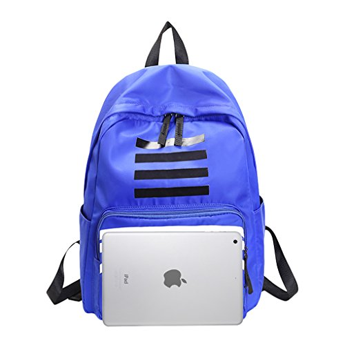 Zaino Coreano Zainetto Zaino Da Viaggio Con Scomparto Per Laptop Da 15 Pollici Zaino Da Viaggio Per Studenti, Ragazze, Ragazzi, Bambini E Coppia Blu