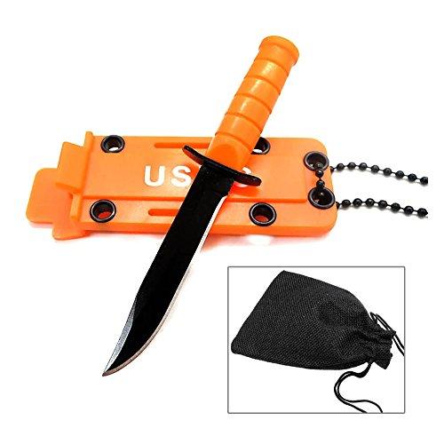 Mmrm Pc Halsketten Art bewegliches EDC Blatt im Freienpocket Verteidigung und Überlebens Werkzeug Orange