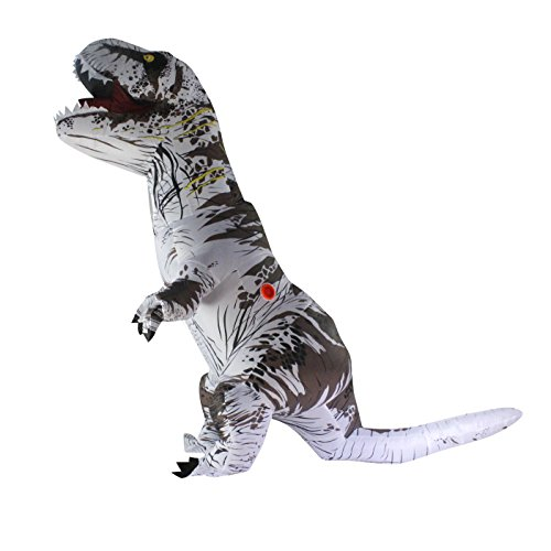 Halloween adulto inflable T Rex Dinosaur Partido traje Funny Dress Bla